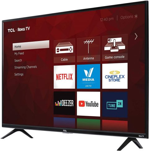 TCL 43S425-CA 4K Ultra HD Smart LED Television 43″, 50″, 55″, 65″